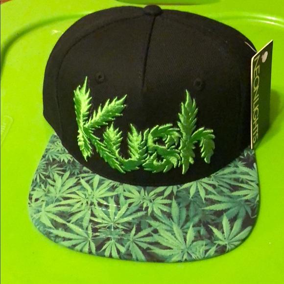 259a8cc54fb Kush 420 neon lights SnapBack hat cap new stoner
